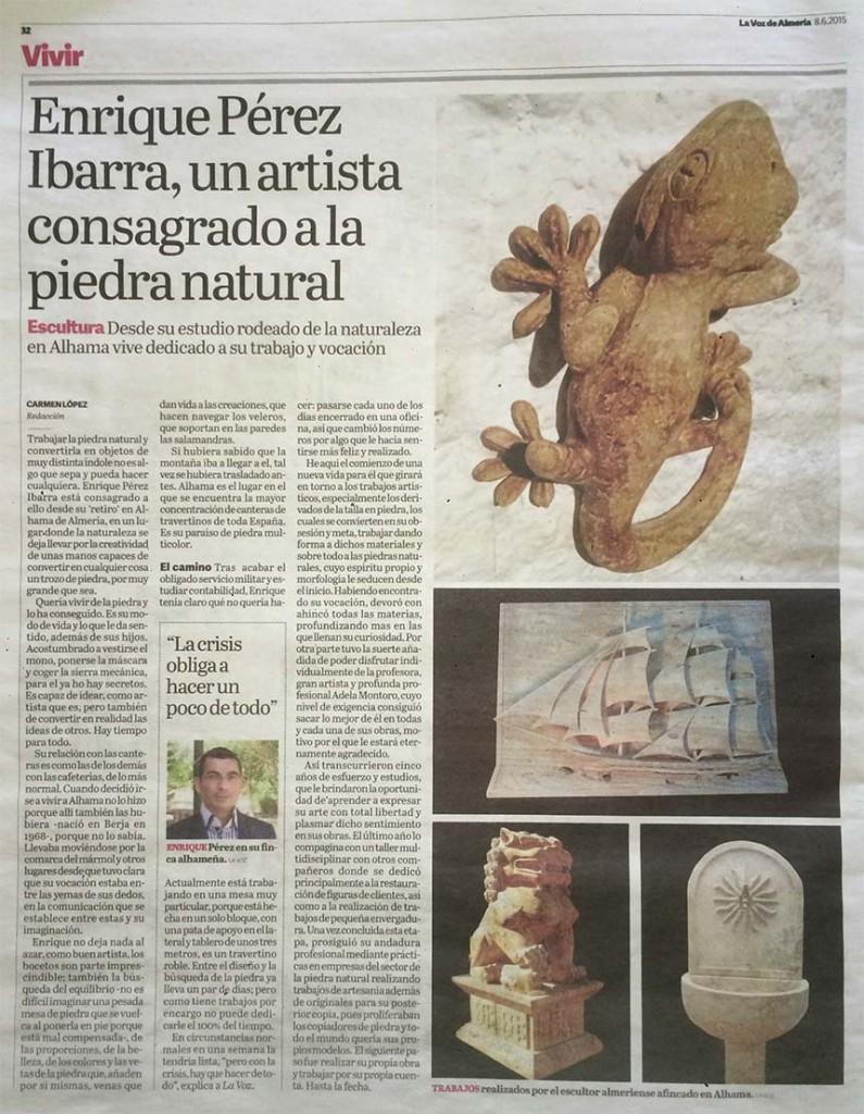 Enrique Perez Ibarra escultor almeria